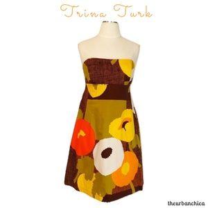 Trina Turk Strapless Poppy Dress